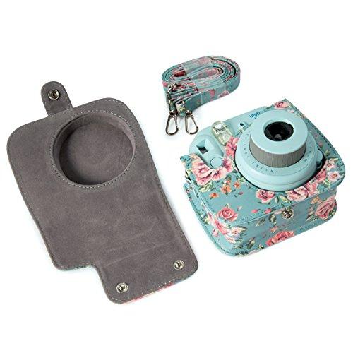 Instax Flylther per Borsa pelle PU tracolla fotocamera Fujiflim Fiore con Flylther in borsa mini r0rSxqH7w