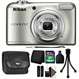 Nikon COOLPIX A10 16.1MP Compact Digital Camera (Silver) with 8GB Accessory Kit
