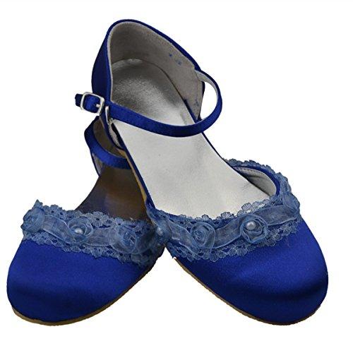 Minitoo - Sandali con Zeppa da ragazza', Blu (blu), 32 EU