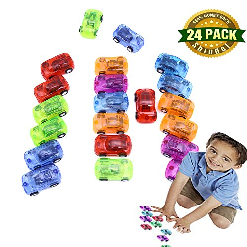 Christmas Pull Toy (Children's Toy Car, Mini Pull Back & Go Fast Racing Car Party favor Giveaway, Xmas Presents, Multicolor, 24 PCS)