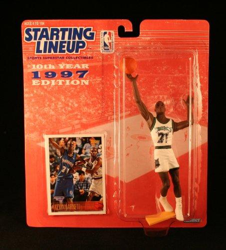KEVIN GARNETT / MINNESOTA TIMBERWOLVES * 1997 * NBA Kenner Starting Lineup & Exclusive TOPPS Collector Trading (Starting Lineup)