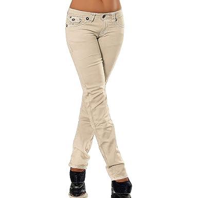 H922 Damen Bootcut Jeans Hose Damenjeans Hüftjeans Gerades Bein Dicke Naht  Nähte  Amazon.de  Bekleidung 414d4ddde8