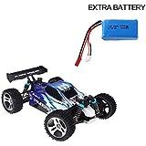 WLtoys A959 1:18 Rc 4WD électrique Truck avec Extra Batterie (Bleu)