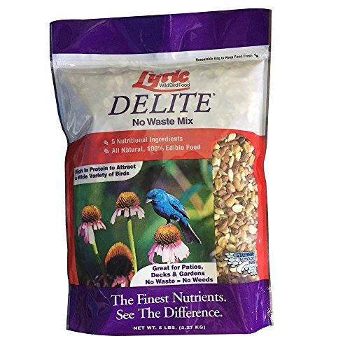 Lyric 2647468 Delite High Protein No Waste Wild Bird Mix - 5 lb.