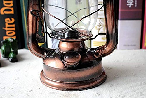Maylai Hurricane Lamps for Kerosene Antique Wall Lights Wrought Iron Vintage Lantern Antique Lamps Hurricane Lamps Outdoor Camping Adjustable Tents Camping Lamp(Not Including Kerosene)