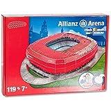 NULL 212 Nanostad Allianz Arena Bayer De Munich - Puzzle 3D, color rojo