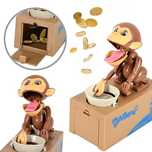 (Wenasi Monkey Piggy Bank Automatically Stealing Coins (Monkey))