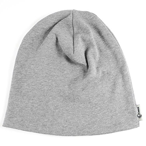 Cotton Knit Beanie - CHARM Casualbox | Boys Made in Japan Organic Cotton Kids Beanie Knit Hat Warm Light Gray