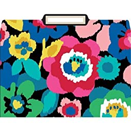 Anna Griffin Ikat Floral File Folders, Box of 12