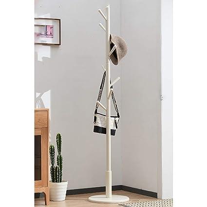 LYN-MEMORY Perchero de Pie, Estante de bambú con Forma de ...