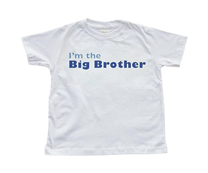 4254e882b Amazon.com: Apericots Cute I'm the Big Brother Toddler Kids Sibling Soft  Comfy Cotton Tshirt: Clothing