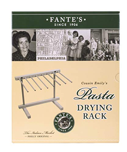 Fantes Collapsible Pasta and Noodle Drying Rack, Made in Italy, Natural Beechwood, 13.375 x 11.5-Inches, The Italian Market Original since 1906