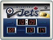 Winnipeg Jets Scoreboard Wall Clock
