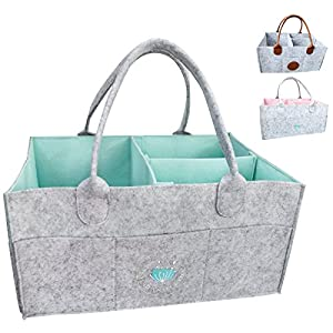 Baby Diaper Caddy Organizer – Baby Shower Gift Basket...
