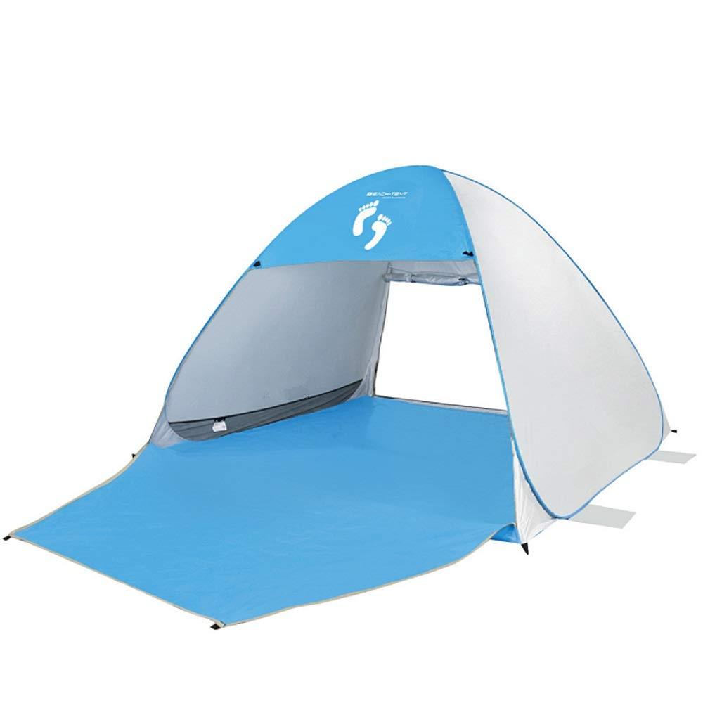Abri instantané extérieur Protection UV Pop Up Tente de plage imperméable Super Bluecoast Parasol de plage En plein air Protection solaire automatique Cabana UPF 50+ Protection solaire Camping Pêche R