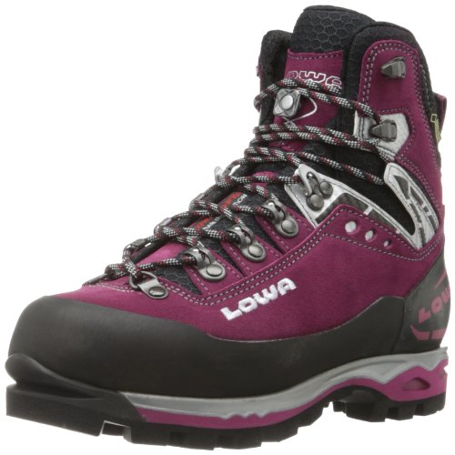 Lowa Women's Mountain Expert GORE-TEX EVO Hiking Boot,Berry/Black,8.5 M US Lowa Red Shoes