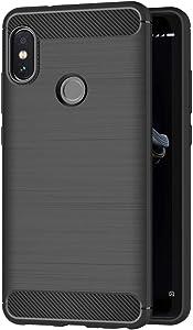 AICEK Funda Compatible Xiaomi Redmi Note 5, Negro Silicona Fundas para Xiaomi Redmi Note 5 Carcasa Redmi Note 5 Fibra de Carbono Funda Case (5,99 Pulgadas)