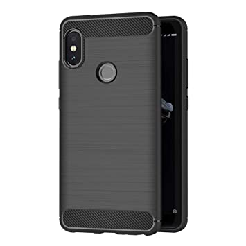 AICEK Funda Compatible Xiaomi Redmi Note 5, Negro Silicona Fundas para Xiaomi Redmi Note 5 Carcasa Redmi Note 5 Fibra de Carbono Funda Case (5,99 ...