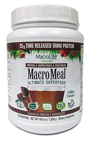 MacroMeal Omni Protein by MacroLife Naturals 25g Protein Hydrolyzed Collagen Peptides 90 Gluten Hormone Free Keto Paleo Friendly for Sustained Energy – Contains MCT Coconut Oil