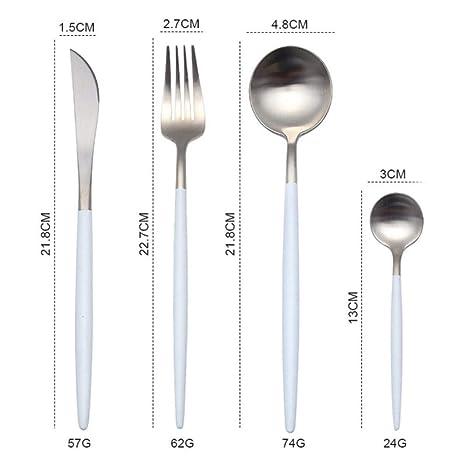 XiYon 4pcs / Set Set de Cubiertos de Oro Cubiertos de Cocina ...