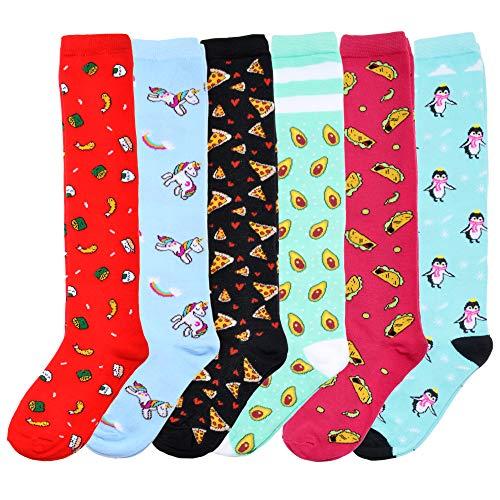 Angelina Novelty Foodie Knee-High Socks (6-Pairs), 2557_9-11