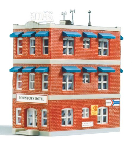 - Life-Like Trains   N Scale Building Kit - Downtown Hotel