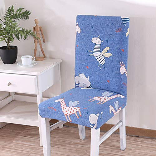 SHANYT Chair Cover Folding Stretch Chair Cover Banquet Wedding Spandex Flower Anti-Dirty Meal Seat Cover for Hotel Wedding Party Lining - L, Universal ()