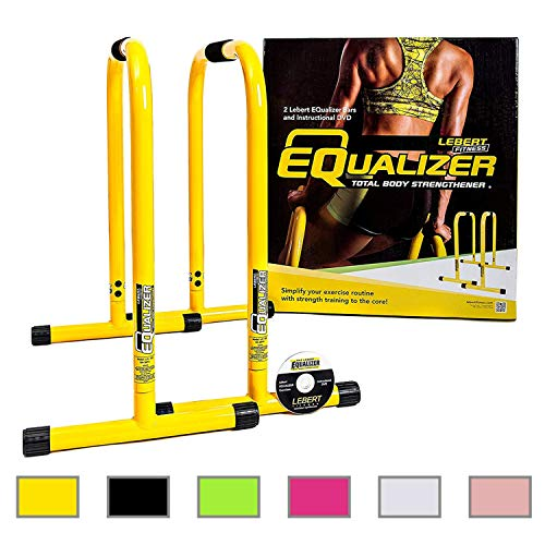 Lebert Fitness Equalizer Bars Total Body Strengthener, Yellow