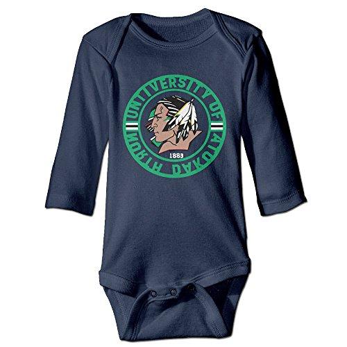 HYRONE University Of North Dakota Baby Bodysuit Long Sleeve JumpSuit Romper Size 24 Months Navy (Ugg Cambridge)