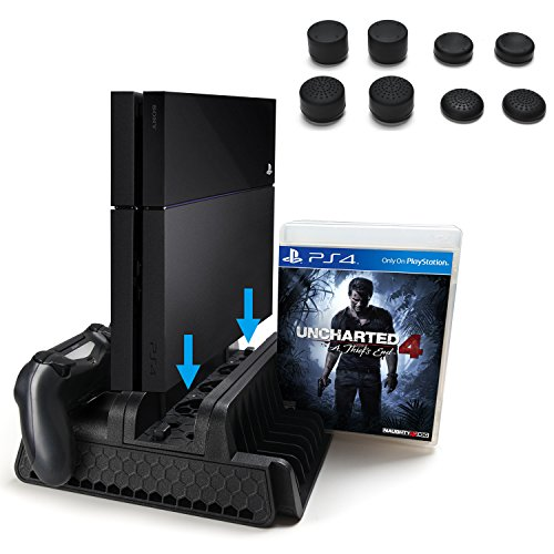 agptek-ps4-vertical-stand-with-cooling-fan-dual-controllers-charging-station-with-12-game-storage-sl