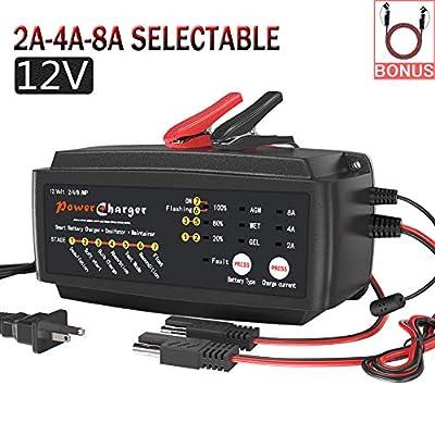 LST 12V 2/4/8A Smart Battery Charger
