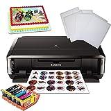 Edible Printer: Canon Printer + Edible Ink Set + 25 x Icing Frosting