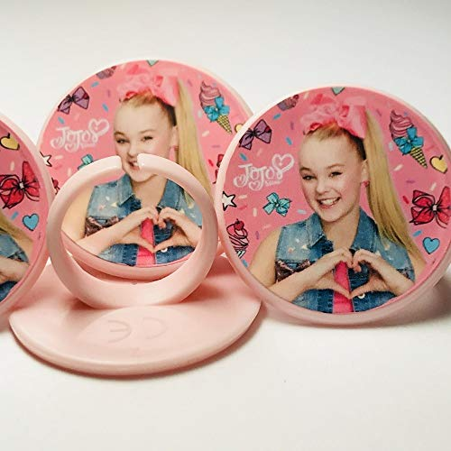 Jojo Siwa Cupcake Toppers Rings Birthday Party Favors