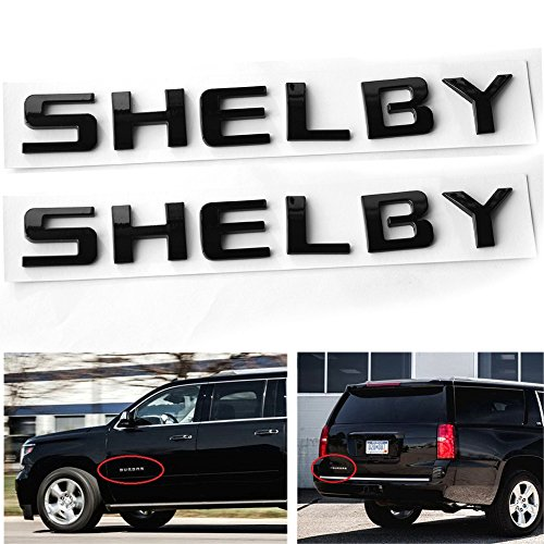 Shelby Letter - Qukparts 2pcs Emblem SHELBY Badges 3D Nameplate Letters for Ford Mustang Vehicle Trucks General Replacement glossy Black