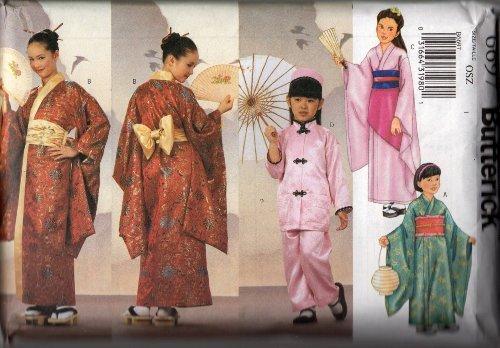 Butterick 6697 - Child's Kimono Sewing Pattern - (AKA P450) - All Sizes