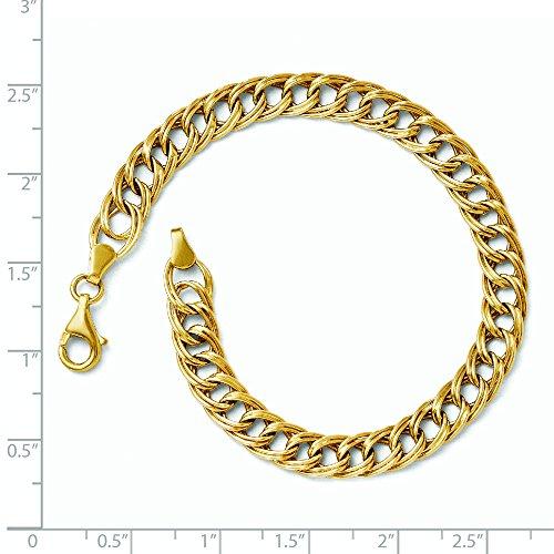"Or jaune 14 carats Facny Bracelet 7 ""Motif JewelryWeb"