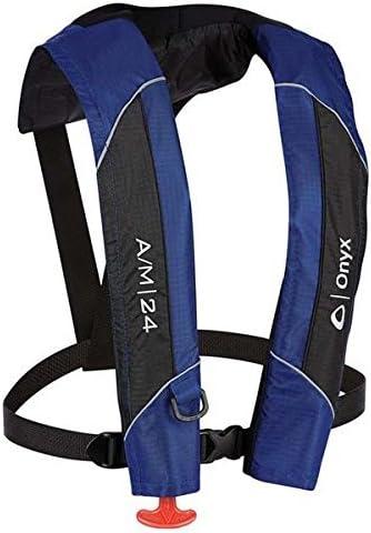 Amazon.com : AMRA-132000-500-004-15 Onyx Outdoors A/M-24 Manual/Automatic Inflatable Life Jacket : Sports & Outdoors
