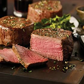 Omaha Steaks Birthday Celebration Combo Features Filet Mignons, Top Sirloins, Boneless Chicken Breasts, Steak Burgers, Jumbo Franks and Stuffed Potatoes