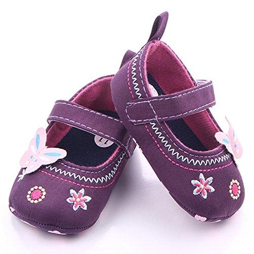 junlong eingefügt Knöchel Band Schuhe Schmetterling Stickerei entworfen Baby rutschfeste Kleinkind Schuhe Blau11