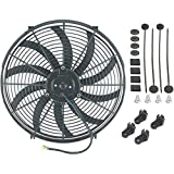 "American Volt Single 16"" Inch Electric Fan 12v Automotive Radiator Cooling 120w Motor 2500 Cfm"