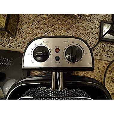 American Micronic AMI-DFP-30LDx-3 Litre Electric Deep Fryer with Timer & Variable Temperature Control, Black 10