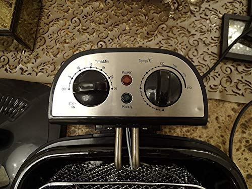 American Micronic AMI-DFP-30LDx-3 Litre Electric Deep Fryer with Timer & Variable Temperature Control, Black 3