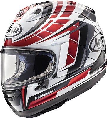- Arai Corsair-X Planet Adult Street Motorcycle Helmet - Red/Large