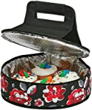 4 pie carrier - Picnic Plus Round Thermal Insulated Pie, Cake Carrier Holds Up To A 12