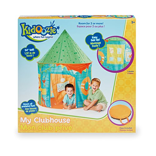 Kidoozie My Clubhouse Playhouse Tent with Front Door Flap and 1 Windows