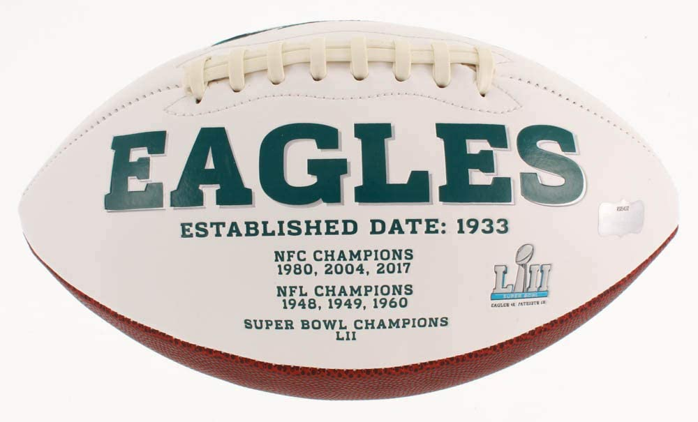 Zach Ertz Phildelphia Eagles Signed Autograph Embroidered Logo Football Certified