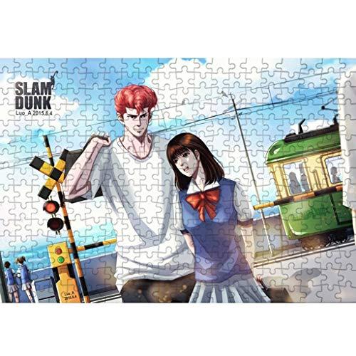 1000P Holzpuzzle, Slam Dunk Kinderspielzeug Dekomprimierung Adult Game Puzzle P04/06 (Size : 500p((No partition)))