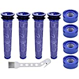 Anicell V8 Filter for Dyson 8 Pack Vacuum Filter Replacement Kit for Dyson V8+, V8, V7 Absolute Animal Motorhead Vacuums, 4 HEPA Post Filter, 4 Pre Filter, Replaces Part # 965661-01 & 967478-01