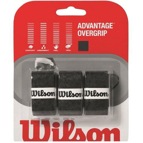 Wilson Sporting Goods Advantage Tennis Racket Grip (Pack of 3), Black