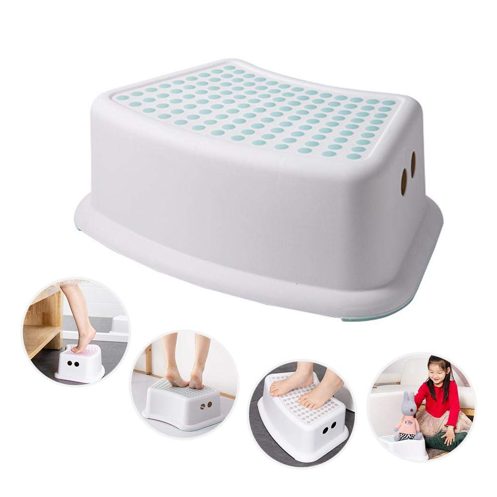for Toilet Bedroom Child Safety Foot Stool Toddler Step Chair with Non Slip Feet Storage Box Function Kitchen Bathroom Roebii Plastic Kids Anti Slip Step Stool
